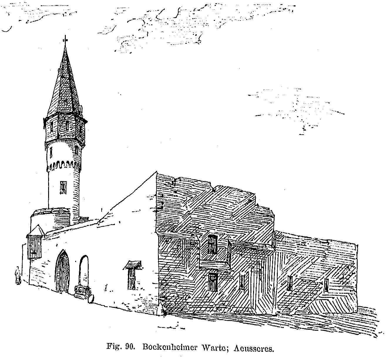 Bockenheimer Warte - Zeichnung