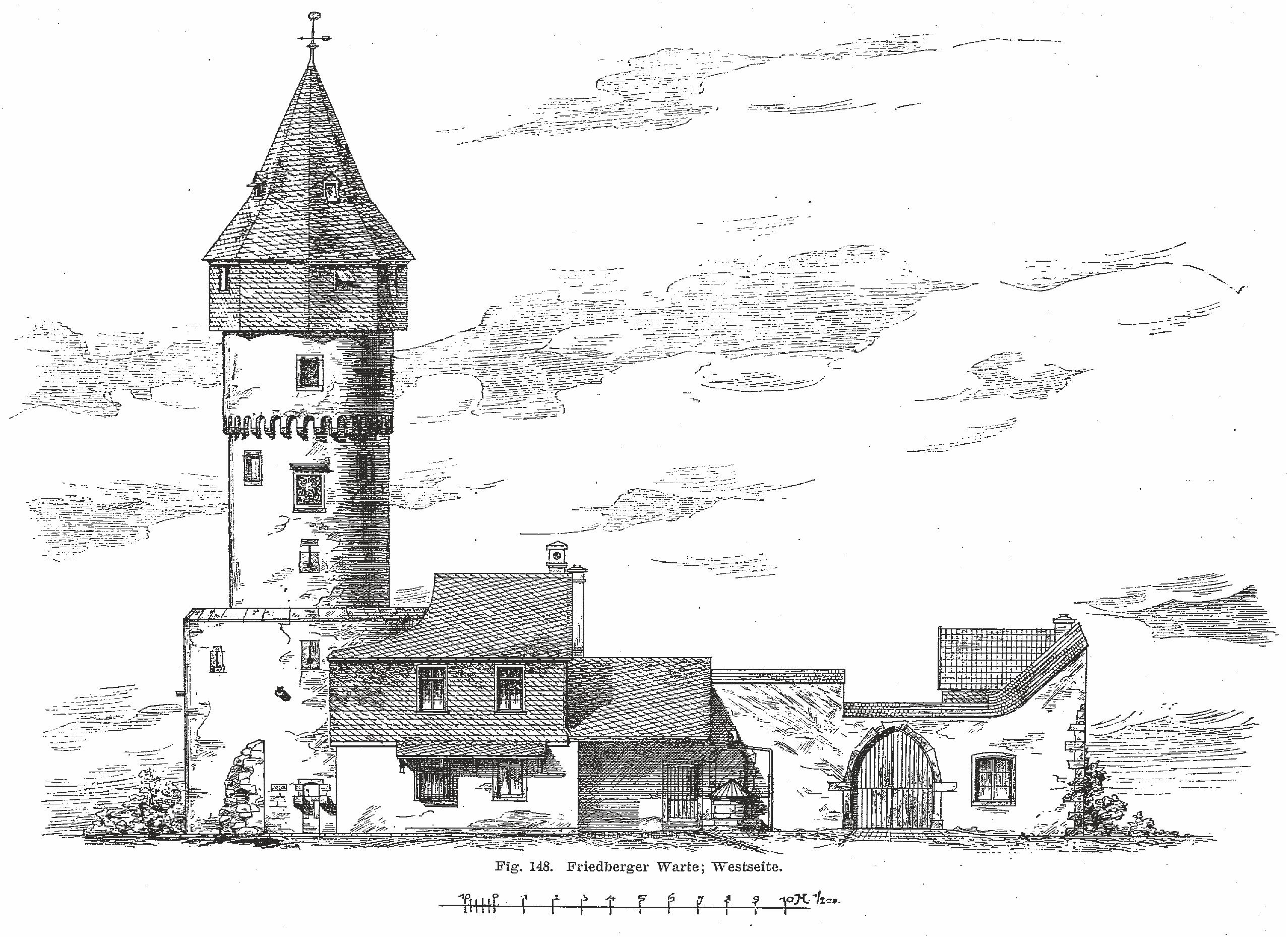 Friedberger Warte - Zeichnung2