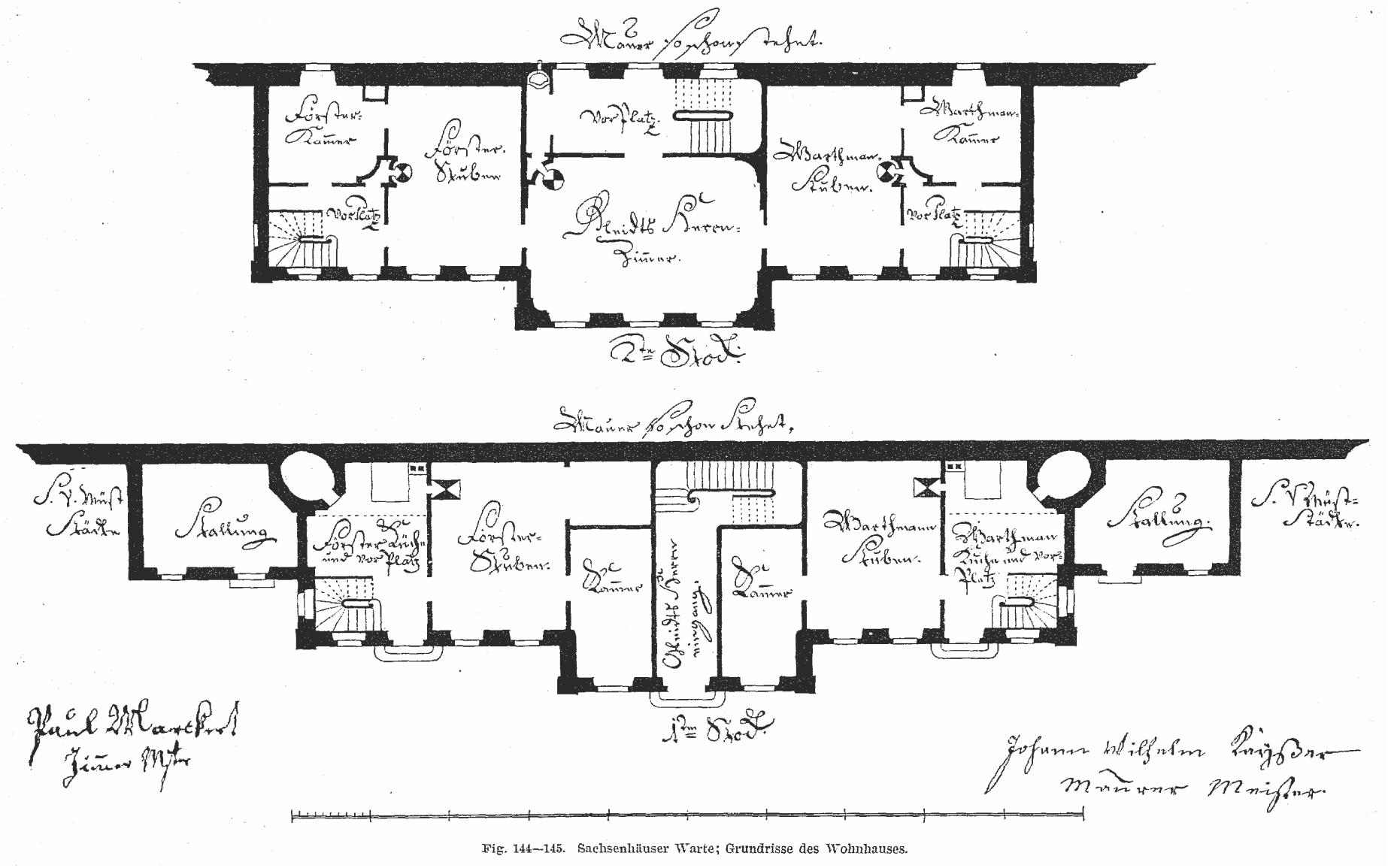 Sachsenhäuser Warte – Grundriss Haus