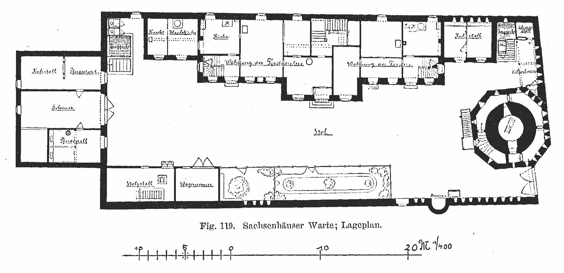 Sachsenhäuser Warte - Grundriss