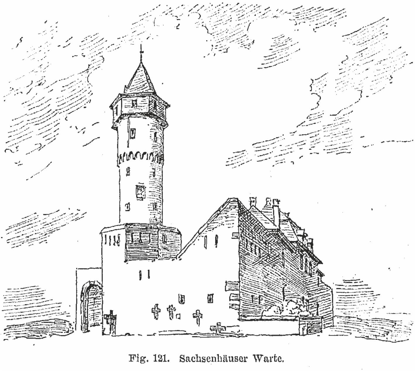 Sachsenhäuser Warte - Zeichnung1