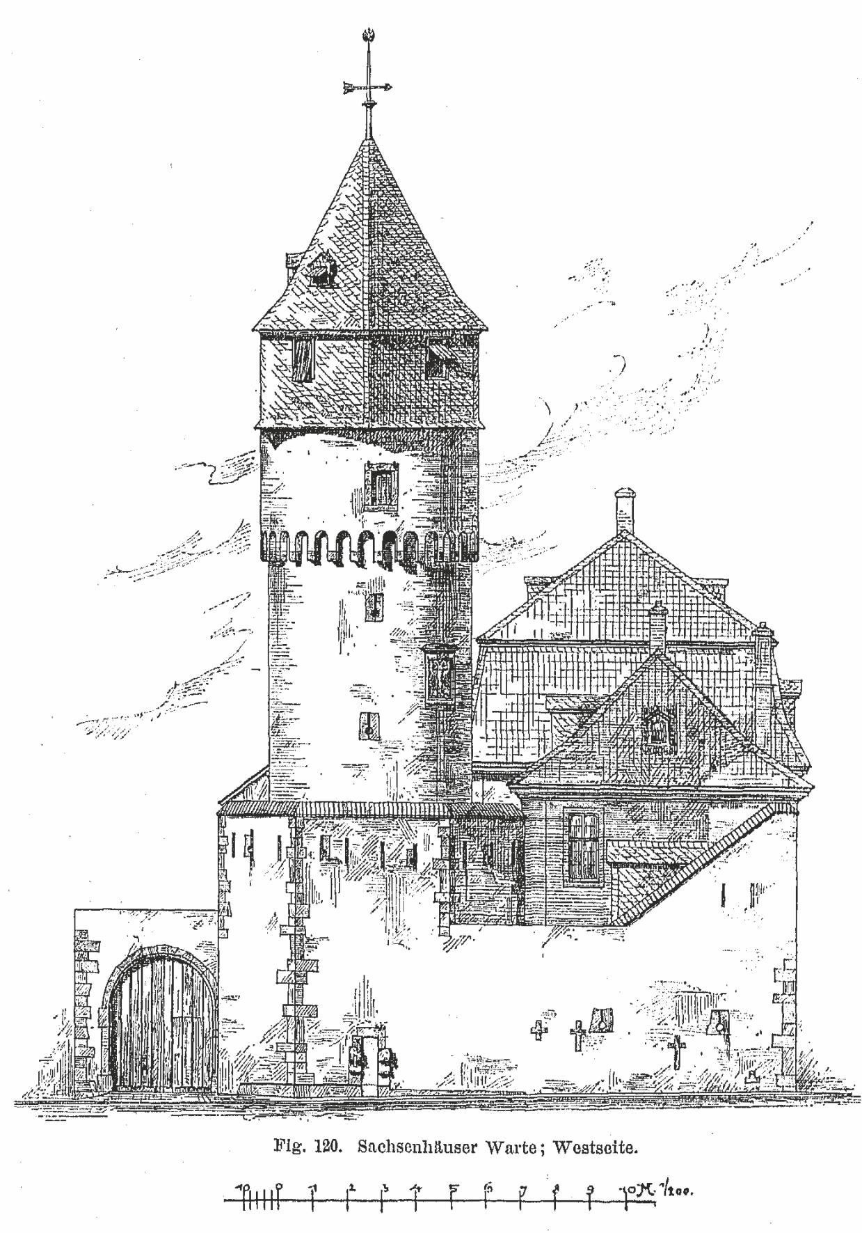 Sachsenhäuser Warte - Zeichnung2